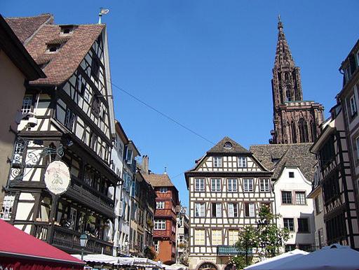 Strasbourg Place du Marche´aux Cochons de Lait